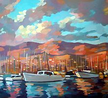 Boats in Santa Barbara by Filip Mihail