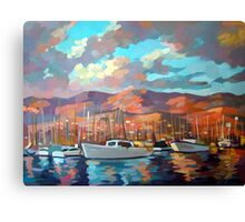 Boats in Santa Barbara Canvas Print