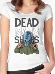 Dead Man's Shoes Comic Style Illustration Women's Fitted Scoop T-Shirt