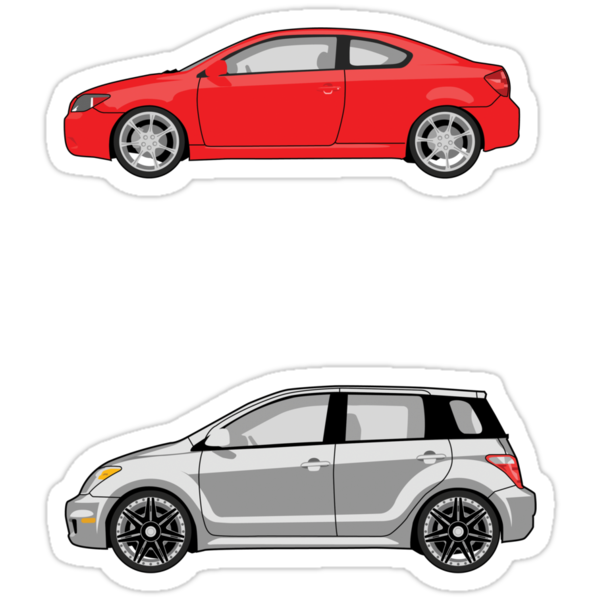 Car Stickers 2 by DetourShirts