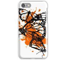 Splat Art - Monarch Butterfly iPhone Case/Skin
