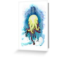 Cthulhu Waits Dreaming Greeting Card