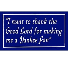 Yankee Fan Photographic Print