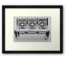 Birmingham Bench Framed Print