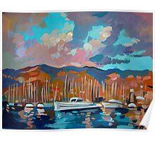 Santa Barbara Marina Poster