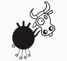 Crazy funny cow Kids Tee