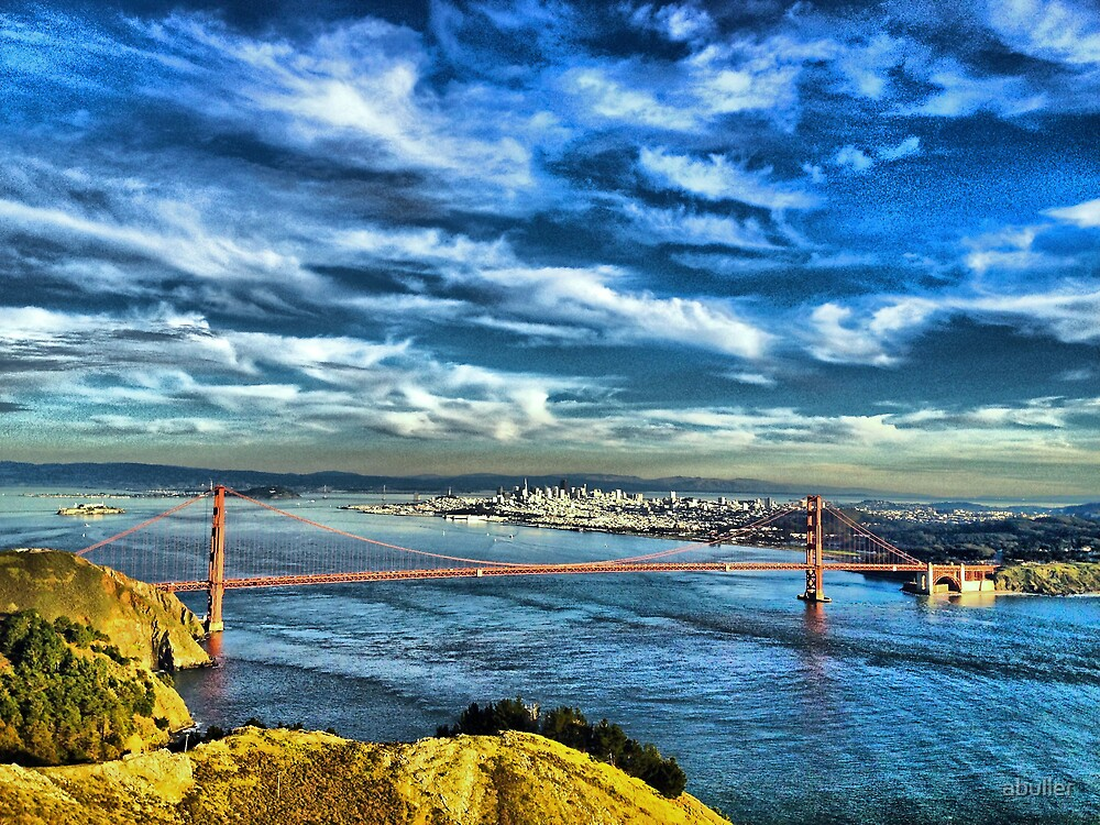 San Francisco from Marin by abuller