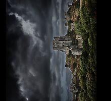 UK Castles - Corfe Castle iPhone Case, Dorset by Love Through The Lens