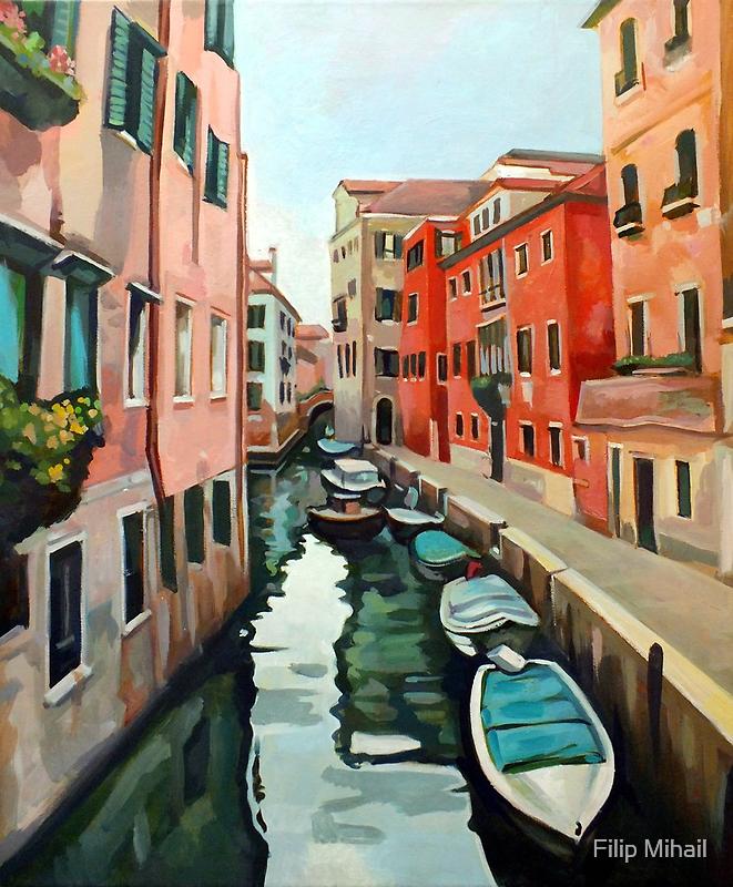 Venetian Cityscape by painterflipper