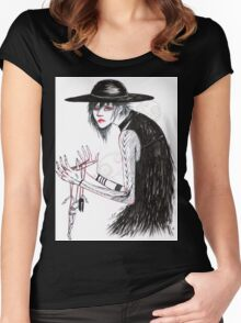 At the Hands of He Women's Fitted Scoop T-Shirt