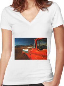 Red Chevy Women's Fitted V-Neck T-Shirt