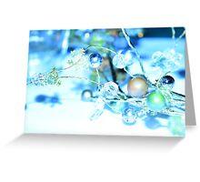 Snowy Winter Garland Greeting Card
