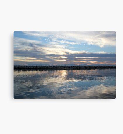 Mirror sea Canvas Print