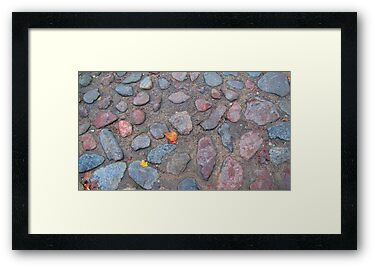 14th/15th Century Cobblestone Street by Mary-Elizabeth Kadlub