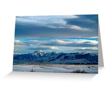 Montana means mountains 2013 1 Greeting Card