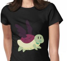 Black Winged Turtle Womens Fitted T-Shirt