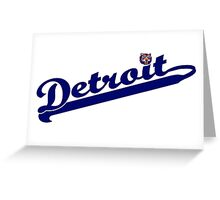 Tigers of Detroit Logo Greeting Card
