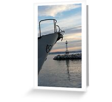 entering the bay Greeting Card