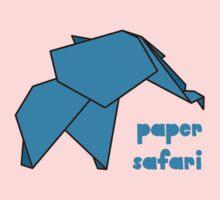 Paper Safari (blue elephant) One Piece - Long Sleeve