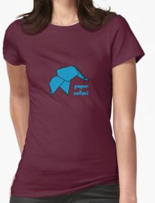 Paper Safari (blue elephant) Womens Fitted T-Shirt