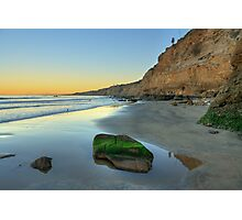Torrey Pines State Beach at sunrise Photographic Print