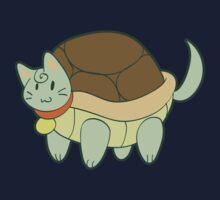 Green Cat Turtle Kids Tee
