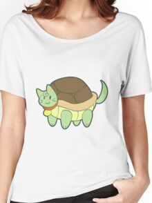 Green Cat Turtle Women's Relaxed Fit T-Shirt