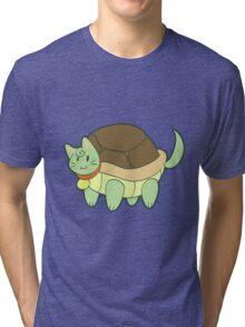 Green Cat Turtle Tri-blend T-Shirt