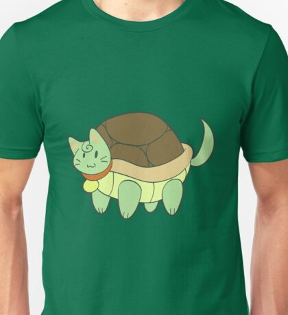 Green Cat Turtle Unisex T-Shirt