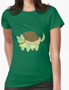 Green Cat Turtle Womens Fitted T-Shirt