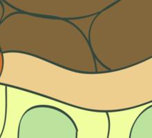 Green Cat Turtle Sticker