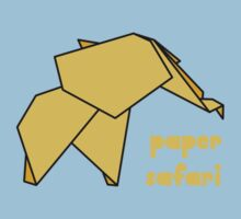 Paper Safari (yellow elephant) Kids Tee