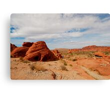 Red Rocks Landscape Canvas Print