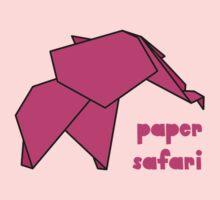 Paper Safari (pink elephant) One Piece - Long Sleeve