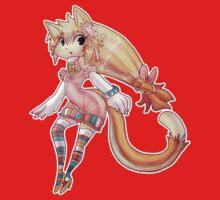 Pretty Blond Cat Girl One Piece - Long Sleeve