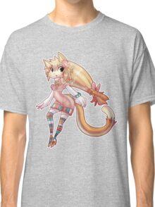 Pretty Blond Cat Girl Classic T-Shirt