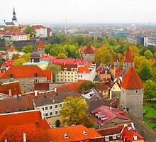 Vivid Tallinn before the Fog by M-EK