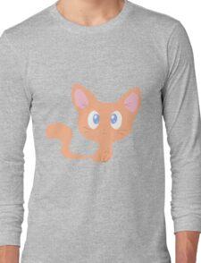Cute Orange Kitty Long Sleeve T-Shirt