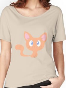 Cute Orange Kitty Women's Relaxed Fit T-Shirt