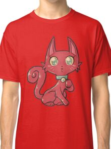 Pretty Red Kitty Cat Classic T-Shirt