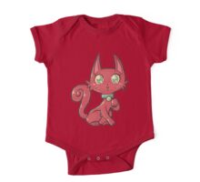 Pretty Red Kitty Cat One Piece - Short Sleeve