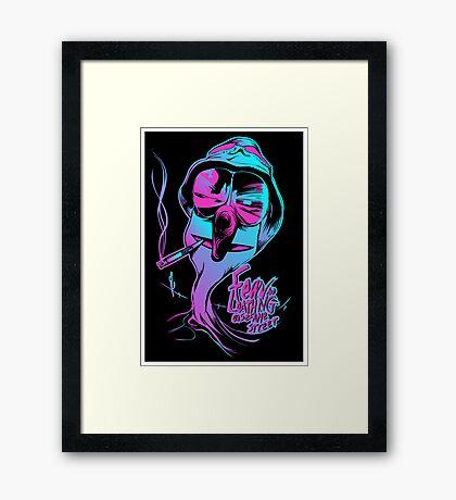 Fear & Loathing on Sesame Street Framed Print