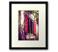 Red Shuttered Derelict Building Framed Print