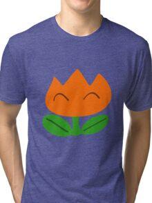 Simple SMW Fire Flower Tri-blend T-Shirt