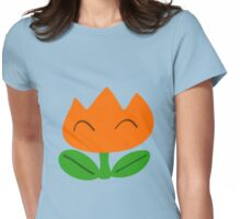 Simple SMW Fire Flower Womens Fitted T-Shirt