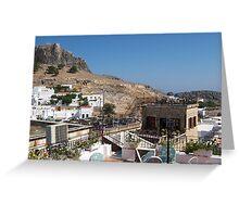 Lindos, Greece Greeting Card
