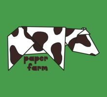 Paper Farm (cow) Kids Tee