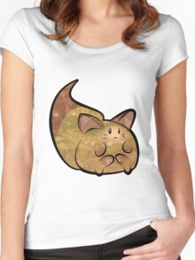Fluffy Brown Kitty Cat Women's Fitted Scoop T-Shirt