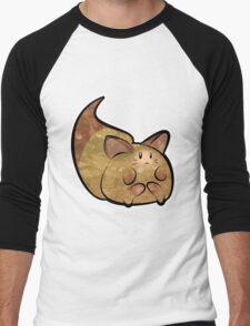 Fluffy Brown Kitty Cat Men's Baseball ¾ T-Shirt