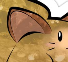 Fluffy Brown Kitty Cat Sticker